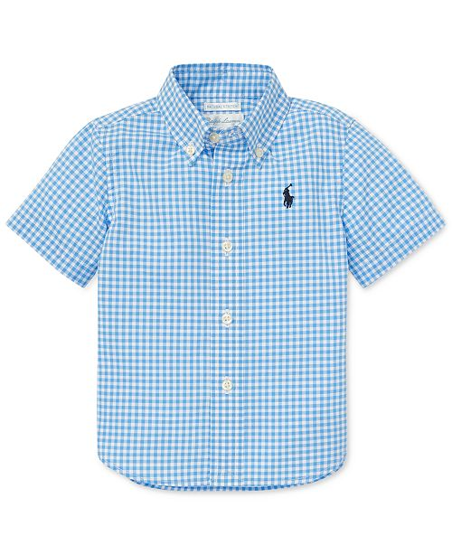 c19c8759 Polo Ralph Lauren Baby Boys Gingham Cotton Poplin Shirt ...