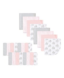 Unisex Baby Polyester Washcloth, 24-Pack, One Size