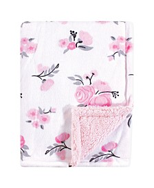 Hudson Baby Plush Blanket with Sherpa Backing One Size