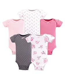 Hudson Baby Unisex Preemie Bodysuit, 5 Pack, Premie