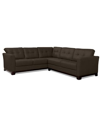 Martino Leather 2-Piece Sectional Sofa (Sofa and Apartment Sofa ...