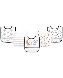 Yoga Sprout Unisex Baby Waterproof Bibs, One Size
