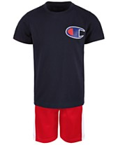 773bea3ffe38 Champion Heritage 2-Pc. T-Shirt & Colorblocked Shorts Set, Little Boys