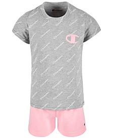 Champion Toddler Girls 2-Pc. Logo-Print T-Shirt & Shorts Set