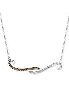 "Chocolatier® Diamond Swirl 18"" Pendant Necklace (1/3 ct. t.w.) in 14k White Gold"