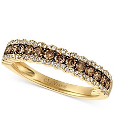 Le Vian Chocolatier® Diamond Band  (5/8 ct. t.w.) in 14k Gold