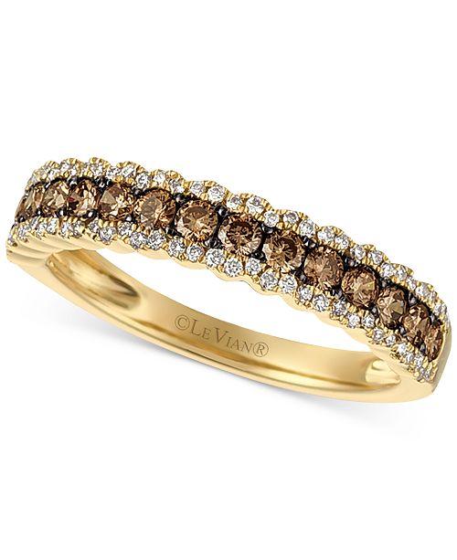 Le Vian Chocolatier® Diamond Band  (5/8 ct. t.w.) in 14k Gold