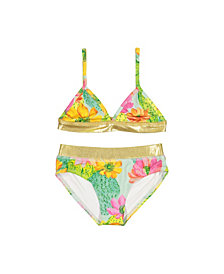 Masala Baby Girls Sunbather Two Piece Set Cactus Floral, 12Y