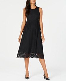 Alfani Petite Lace Midi Dress, Created for Macy's
