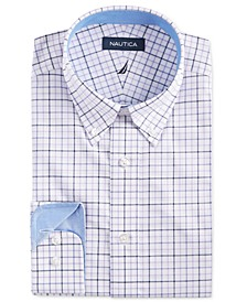Men's Classic/Regular Fit Comfort Stretch Wrinkle Free Large Tattersall Dress Shirt