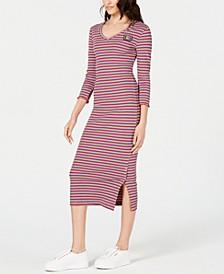 Striped Rib-Knit Dress
