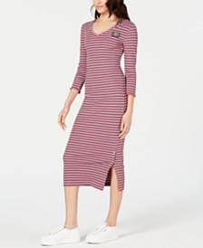 Juicy Couture Striped Rib-Knit Dress
