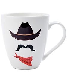 Pfaltzgraff Texas Cowboy Face Mug