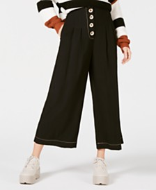 Moon River Wide-Leg Cropped Pants