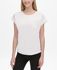 Calvin Klein Contrast-Trim Pocket T-Shirt
