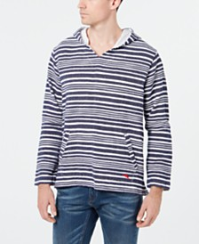 Tommy Bahama Men's Blue Wave Baja Hooded Shirt