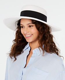 Nine West Packable Wide Brim Boater