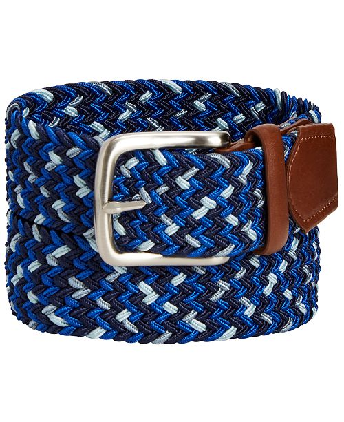 Club Room Men's Woven Stretch Belt, Created for Macy's