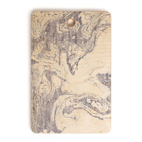 Deny Designs French Linen Marble Rectangle Cutting Board
