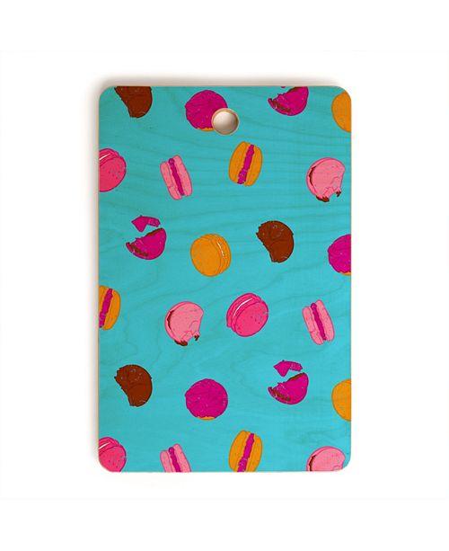 Deny Designs Kawaii French Macarons Rectangle Cutting Board