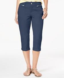 Style & Co Zipper-Pocket Capri Pants, Created for Macy's