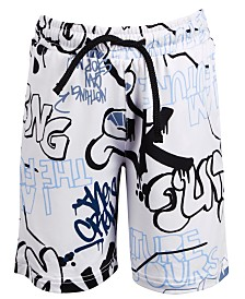 Ideology Little Boys Graffiti-Print Shorts, Created for Macy's