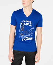A X Armani Exchange Men's V-Neck Logo Shirt
