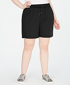 Plus Size Woven Shorts, Created for Macy's