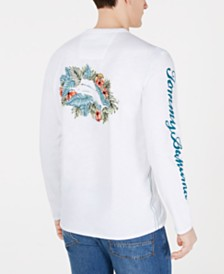 Tommy Bahama Men's Marlin Hideaway Lux Textured Logo Graphic Pima Cotton T-Shirt
