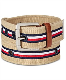 Tommy Hilfiger Men's Striped Casual Belt
