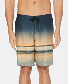 "Perry Ellis Men's Sunset Graphic E-Board 8.5"" Swim Trunks"