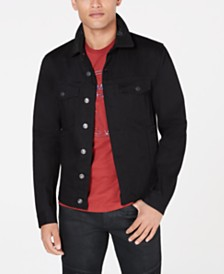 A|X Armani Exchange Men's Slim-Fit Black Trucker Jacket