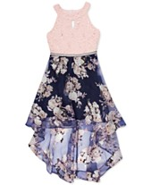 Speechless Big Girls Floral   Lace High-Low Party Dress 3284cfba457d