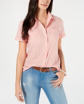 e90361e2793a1 Tommy Hilfiger Cotton Striped Short-Sleeve Shirt