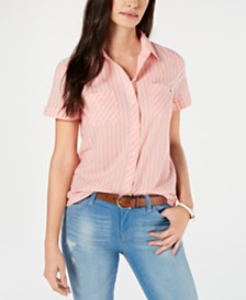 Tommy Hilfiger Cotton Striped Short-Sleeve Shirt