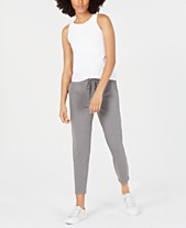 f33634c62c Eileen Fisher Round-Neck Yoga Tank Top   Drawstring Slouchy Ankle Pants