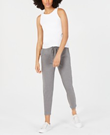 Eileen Fisher Round-Neck Yoga Tank Top & Drawstring Slouchy Ankle Pants