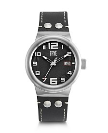 Frye Mens' Harness Black Leather Strap Watch