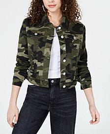 Jou Jou Juniors' Camo Printed Denim Jacket