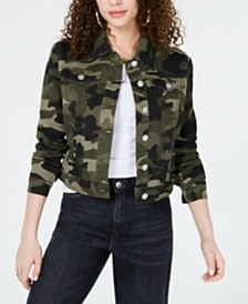 Jou Jou Juniors' Camo Printed Denim Jacket