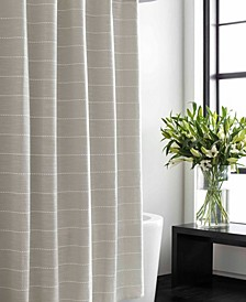 Slub Stripe Shower Curtain