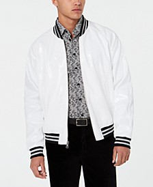 Men's Slim-Fit Sequin Bomber Jacket