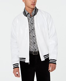 Tallia Men's Slim-Fit Sequin Bomber Jacket