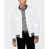 Tallia Mens Slim-Fit Sequin Bomber Jacket