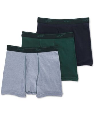 Men's 3 Pack Essential Fit Staycool + Cotton Boxer Briefs