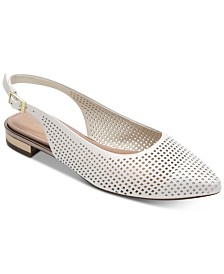 Rockport Women's Adelyn Perforated Slingback Flats