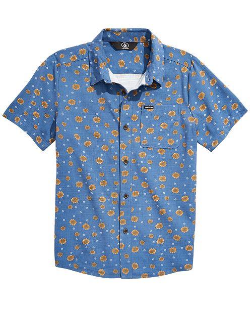 Volcom Big Boys Everett Classic-Fit Printed Oxford Shirt