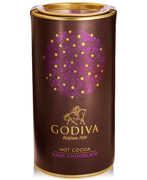 Godiva Chocolatier Dark Chocolate Cocoa Canister