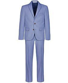 Big Boys Stretch Blue Birdseye Suit Separates