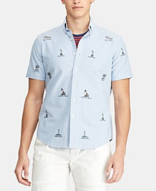 Men's Classic-Fit Americana Print Oxford Shirt